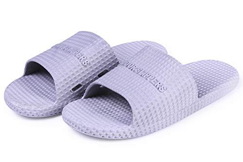 and Non Soft Slip Sandals Women's Slippers Zertu and Women Bottom Summer Men Slippers for House Gray Shower Men's Bathroom CwzW8xa0q