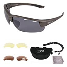 Groove Silver Gray UV400 POLARIZED SUNGLASSES FOR FISHING & SPORT Interchangeable