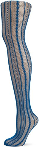 Leg Avenue Vintage Pinstripe Net Pantyhose, One Size, Peacock -