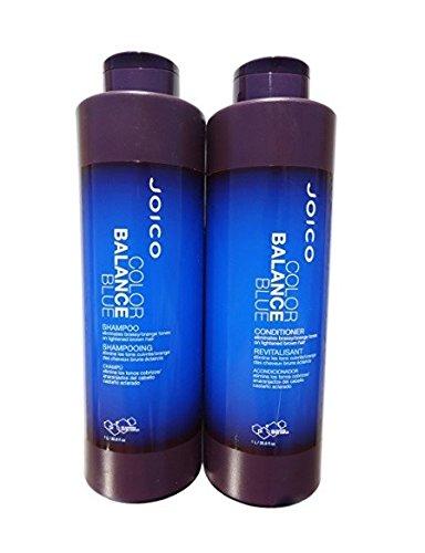 Joico Color Balance Blue Shampoo & Conditioner 33.8 oz Liter Duo Balance Normal Hair Shampoo