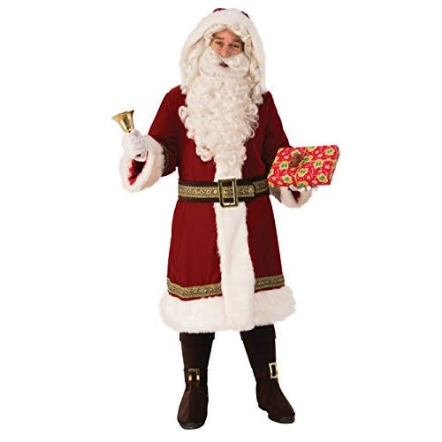 Rubie's Men's Plus Size Supreme Edition Old Time Santa Suit, as Shown, Extra-Large