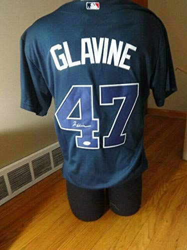 (Tom Glavine Braves Autographed Signed Jersey JSA Coa)