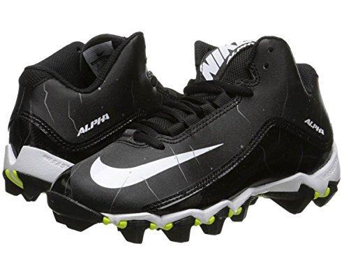 Men's Nike Alpha Shark 2 Three-Quarter Football Cleat Black/Anthracite/White Size 10 M - Springfield Mall