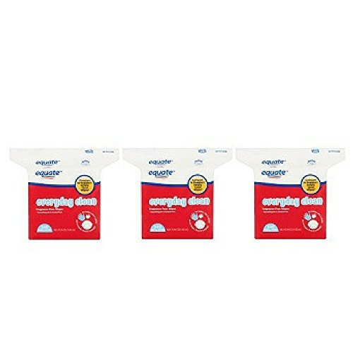 Equate Everyday Clean Fragrance Free Refill Wipes, 240 sheets (Pack of 3)