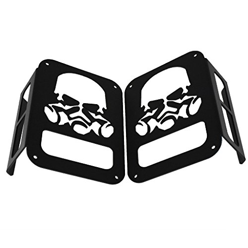 Amazon Com Skull Gas Mask Black Tail Light Guards Protector For