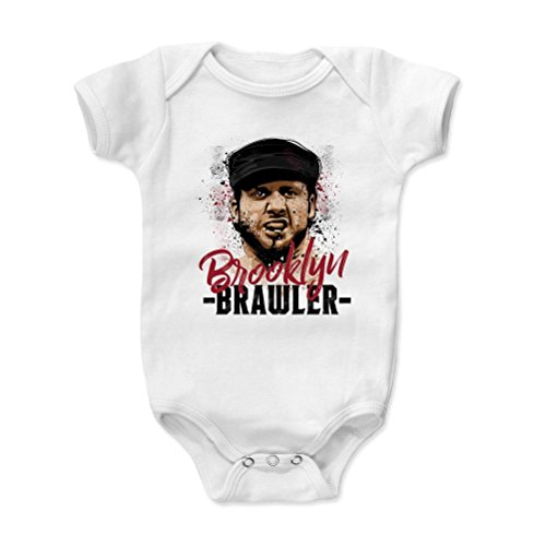 500 LEVEL's Brooklyn Brawler Infant & Baby Onesie Romper 3-6M White - Brooklyn Brawler Paint R - Officially Licensed by Pro Wrestling Tees (Tee Brawlers)