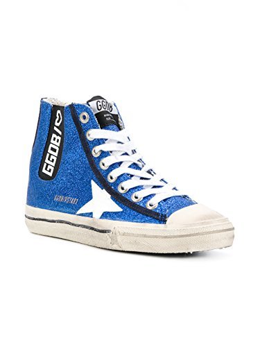Golden Goose Damen G31ws638n1o Blau Leder Hi Sneakers Alte