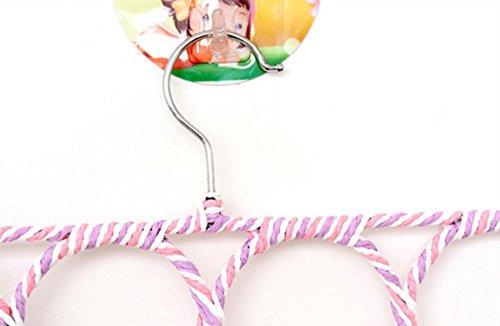 28 Loop Circle Ring Rope Slots Scarf Holder Hook Wraps Shawl Storage Hanger Organizer (Random Color)