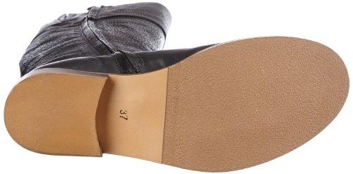 HIP D1107 Black Rough Leather - Botines de cuero mujer negro - negro