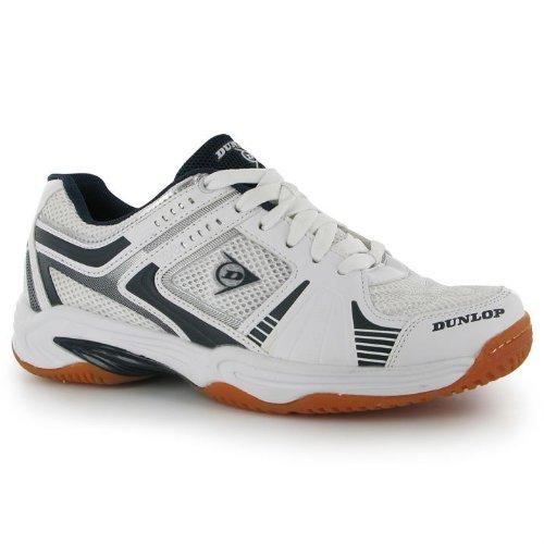 Calzado De Squash Para Interiores Dunlop Para Hombre, Moldeado Sin Marca, Calzado Único, Blanco / Azul Marino