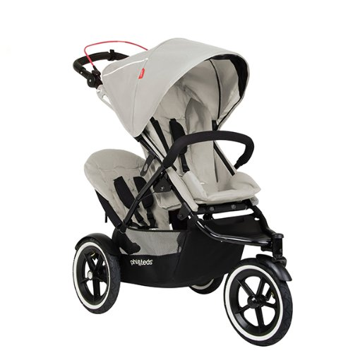 phil&teds *LIMITED EDITION* Navigator V2 Stroller + Double Kit with Auto Stop- SILVER by phil&teds