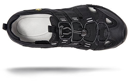 ATIKA AT-M107-BLK_Men 8 D(M) Men's Sports Sandals Trail Outdoor Water Shoes 3Layer Toecap M107
