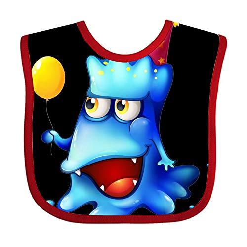 Feeder Bib Holding Balloons Virus Baby Girl Bandana Drool Bibs for Drooling and Teething