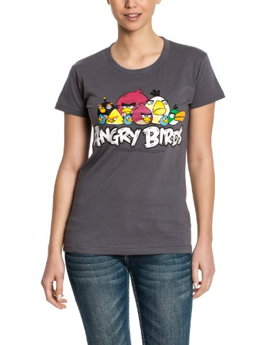 Angy Birds Characters Girls T-Shirt gray