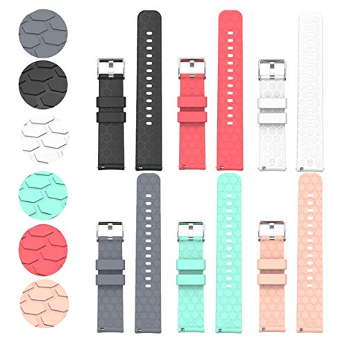 Compatible with Fossil Gen 4 Q Venture HR Bands Replacement Colourful Strap Bracelet, 6Pack 18MM Bands for Fossil Women