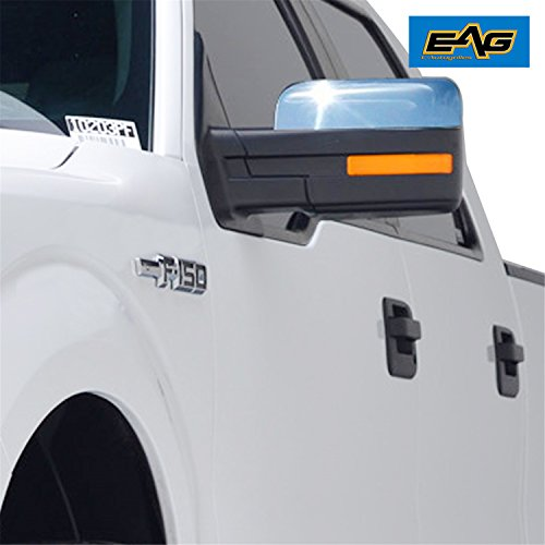 E Autogrilles Chrome Abs Upper Half Mirror Cover For   Ford F