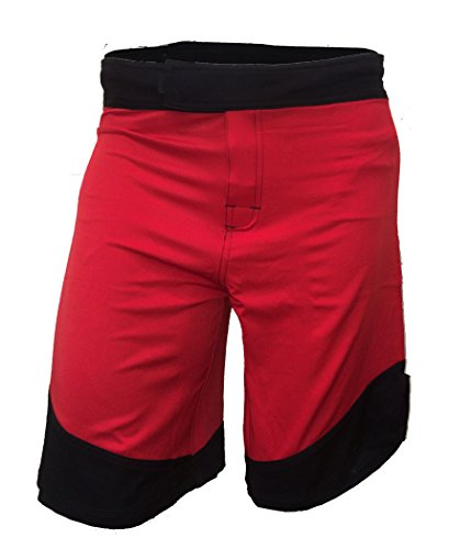Epic MMA Gear WOD Shorts for Men Agility 3.0 (36, Red/Black Trim)