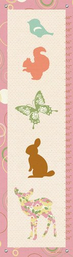 Oopsy Daisy Growth Charts Woodland Stack by Annette Tatum, 12 by 42-Inch by Oopsy Daisy
