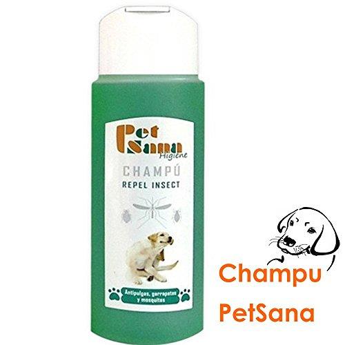 Champú repelente insectos para perros, antipulgas, garrapatas y mosquitos 250 ml