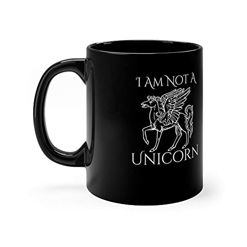 I Am Not A Unicorn Funny Pegasus 11 Oz Classic Coffee Mugs, C-handle And Ceramic Construction. 11 Oz Ceramic