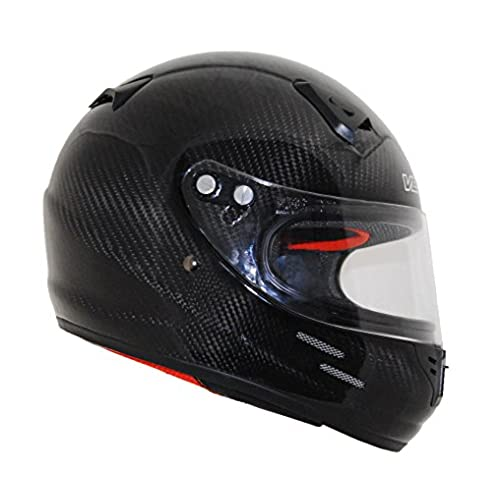 Vega Helmets KJ2 Carbon Fiber Junior Full Face Karting Helmet (Black, X-Large)