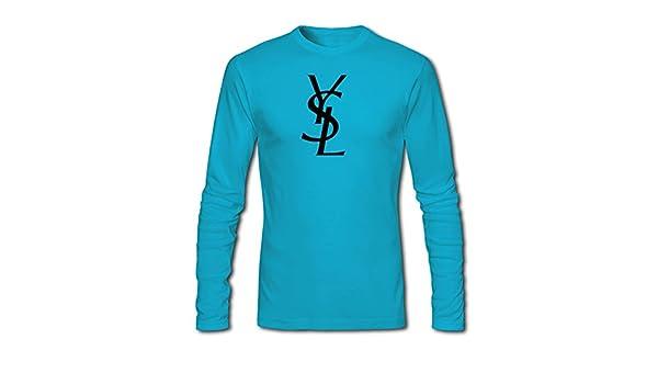 Yves Saint Laurent - Camiseta de manga larga - para hombre l blue ...