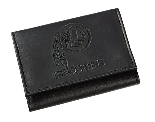 Team Sports America NFL Washington Redskins Tri-Fold Wallet, Black
