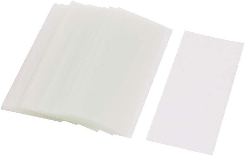 sourcingmap 30pz 72 millimetri x 18,5 millimetri PVC tubi termorestringenti trasparente per 1 x 18650