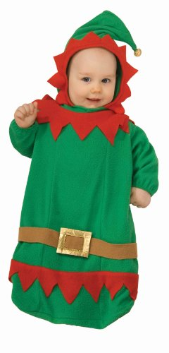Night Elf Costume (Forum Novelties Baby's Christmas Elf Bunting Costume, Multi, Infant)