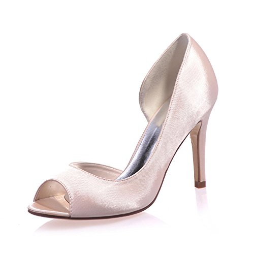 L@YC Zapatos de boda femeninos Peep Toe Cool Heels / Party Night & 5623-16 Pink