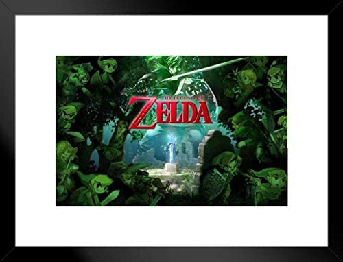 Pyramid America The Legend of Zelda Forest Nintendo High Fantasy Action  Adventure Video Game Series Matted Framed Poster 26x20 inch