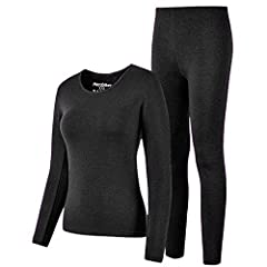 Our Thermal Underwear will be the best Choice for Thermal Retention in Winter 2 piece set: 1 long sleeve top + 1 full length bottom Feature:  -Double layer long knit cuffs.  -90% ultra-soft polyester, 10% spandex -Elastic waistband -Fleece li...