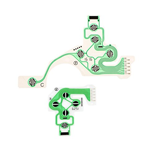 (kesoto Conductive Film Keypad Controller Button Ribbon Circuit Board Flex Cable Repair Parts for PS4 PlayStation 4 DualShock )