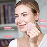 SUIBOBO Skincare pink rose quartz jade roller and