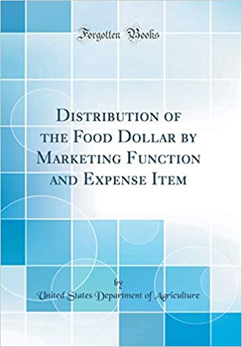 distribution of the food dollar by marketing function and expense
