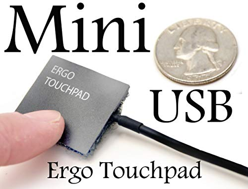 Worlds Smallest USB Computer Touchpad, Trackpad, Mouse, Wired, 1.1 x 1.3 inches Ergo Touchpad Mini USB ETP001MTPUSB