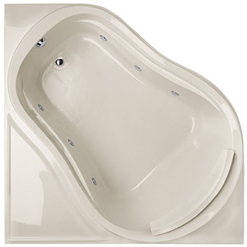 Eclipse Tub Acrylic (Hydro Systems ECL6464AWP-BIS-WOV.SN Eclipse Acrylic Tub with Whirlpool System (Drain Included), Biscuit/Satin Nickel)