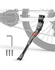 phixilin Fietsstandaard voor 20-27 inch, universeel, in hoogte verstelbaar, zijstandaard met anti-slip rubberen voet, fietsframe voor racefiets/MTB/BMX/kinderfiets/vouwfiets