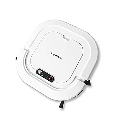 Grand-Pro A1 Robotic Vacuum Cleaner with mop, Robotic vacuum for pet hair, cleans hardwood floor tile floor and low-pile carpet, robot vacuum works 110V, 220V, 240V, super slim, white