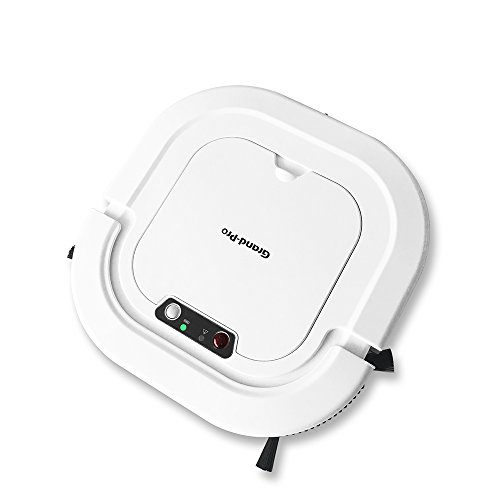 Grand-Pro A1 Robot Vacuum for Pet Hair Robot Vacuum Mop Combo Self-Charging Good for Hardwood Floor Tile Floor and Low-Pile Carpet Robot Vacuum Works in 110V and 220V