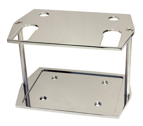 SMOOTH CHROME BILLET ALUMINUM OPTIMA GROUP 75/25 BATTERY TRAY - CHEVY FORD MOPAR Billet Battery Tray