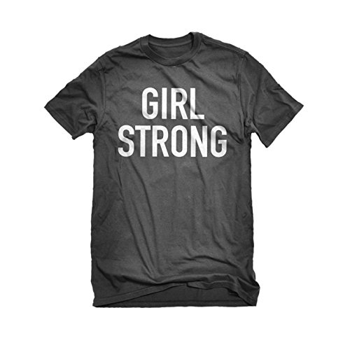 [Mens Girl Strong T-Shirt Charcoal Grey Large] (Patriarchy Costume)