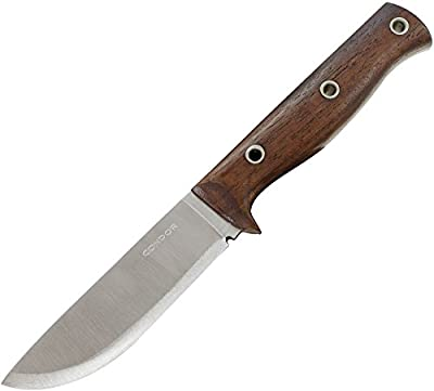 Condor Tool & Knife, Swamp Romper, 4-1/2in Blade, Walnut Handle with Sheath