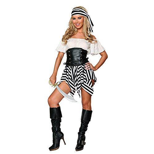 QDHY Sexy Pirate Costume Women Dress Makeup For Halloween Masquerade Parties Cosplay Clothes