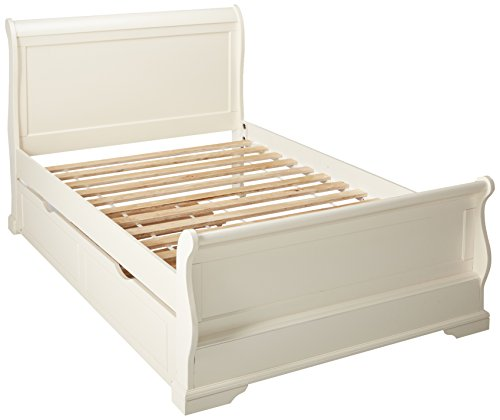 (24/7 Shop at Home 247SHOPATHOME IDF-F7944WH-TR Childrens-Bed-Frames, Full, White)