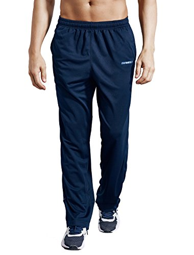- LUWELL PRO Men's Sweatpants with Pockets Open Bottom Athletic Pants for Jogging, Workout, Gym, Running, Training(0317Nave Blue,M)