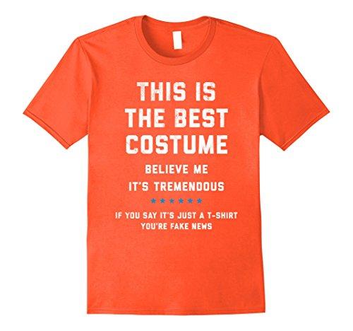 Mens Trump Halloween Costume Shirt - Funny Political 2XL Orange