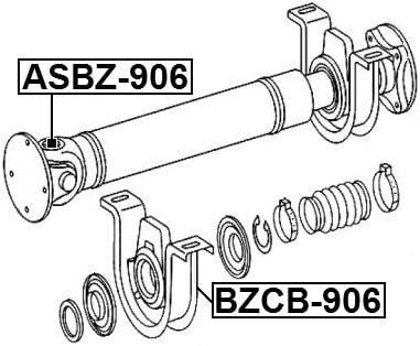 A9064101081 Center Bearing Support For Mercedes A9064101081