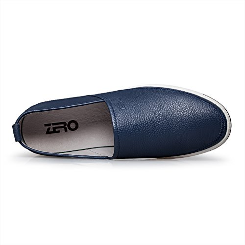 Loafers Slip Blue Moccasin On ZRO Leather Casual Shoes Mens FwWWE6qnX