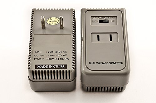 Price comparison product image Simran 1875 Watts International Travel Voltage Converter For 110V USA Products In 220V / 240V Countries. Ideal for Hair Dryers,  Phone,  iPod,  Camera Chargers and Shavers Etc. Model SM-1875